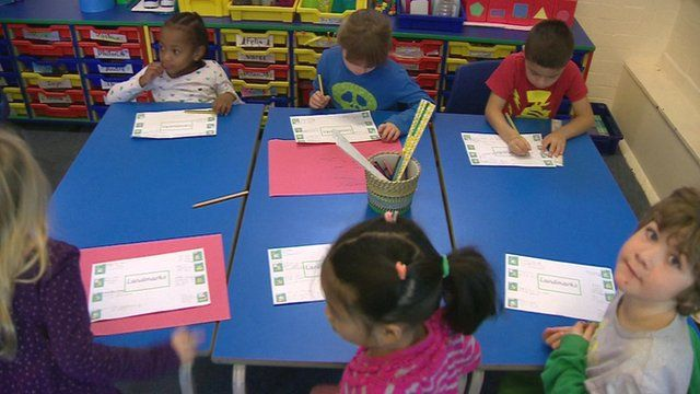 Children at a school desk