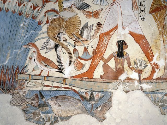 رسوم لطيور وأسماك في مصر القديمة