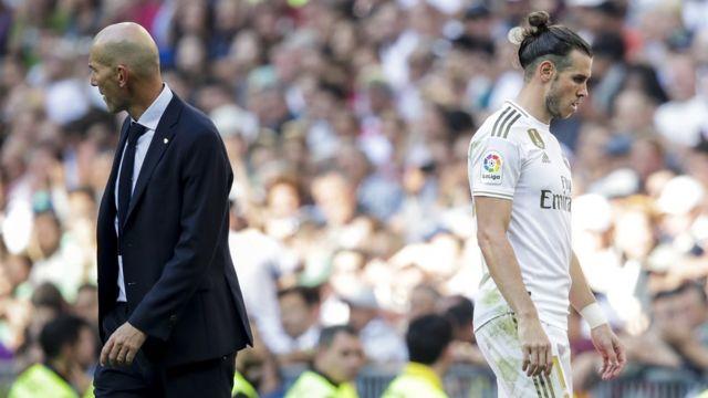 Gareth Bale da kocin Madrid Zinadine Zidane