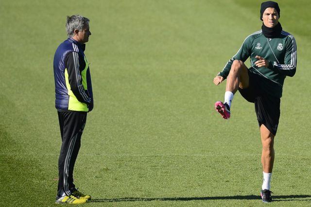 Jose Mourinho da Cristiano Ronaldo