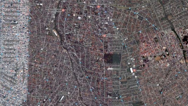 Imagem satélite da região do parque