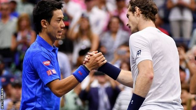 Kei Nishikori and Andy Murray