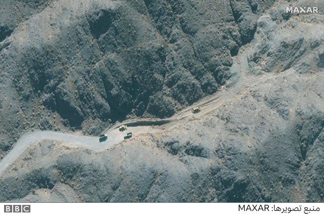 جاده بین کارگاه ساختمانی و محل احتمالی ساخت تاسیسات زیر زمینی