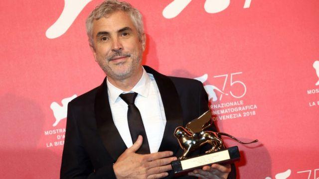 Cuarón en la entrega de los premios del cine de Venecia.