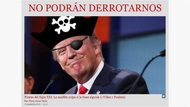 Trump visto como un pirata en medios cubanos.