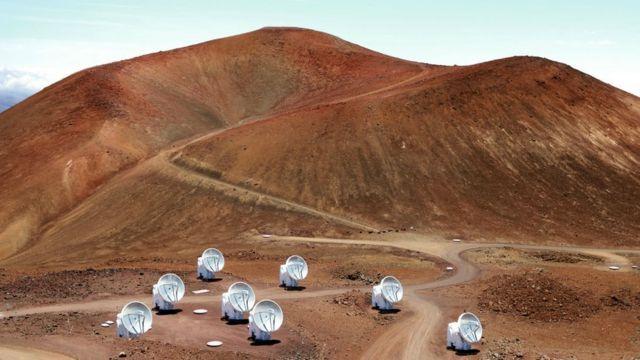 Satellites on Mauna Kea