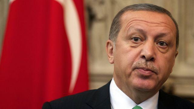 トルコのエルドアン大統領(今月6日、ブリュッセル)