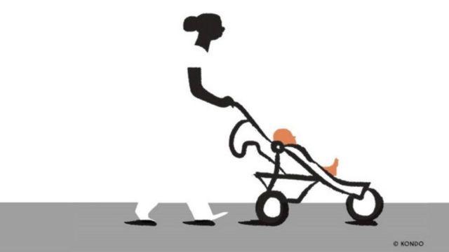 Ilustração de babá de branco