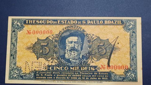 """Nota de """"dinheiro paulista"""""""