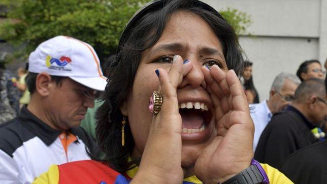Empleada del sector público venezolana.