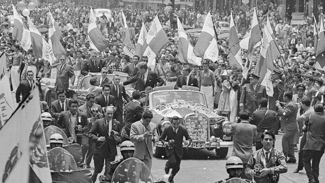 John F. Kennedy de visita en Ciudad de México