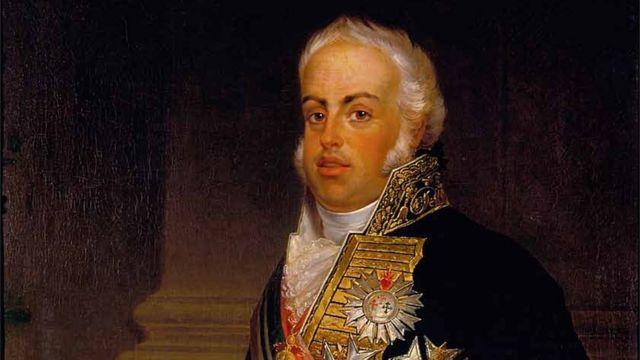 Retrato de D. João 6º por Albertus Jacob Frans Gregorius