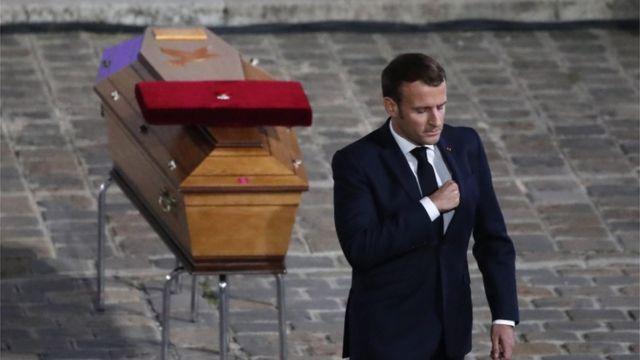 Macron le rindió homenaje a Samuel Paty