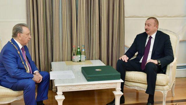Ильхам Алиев с Рамизом Мехтиевым