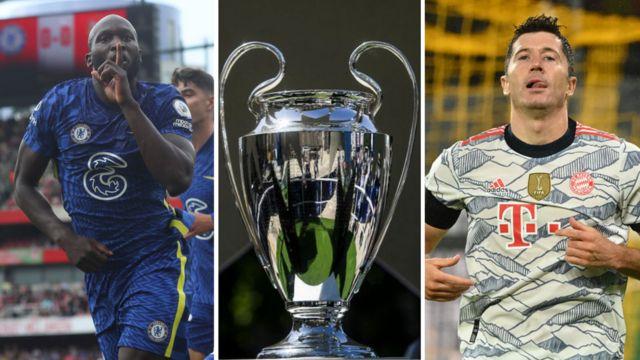 Lukaku, Uefa Champions League Trophy, Lawandowski