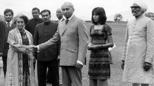 इंदिरा गांधी के साथ भुट्टो