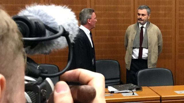 Ausonius durante su juicio en Frankfurt.