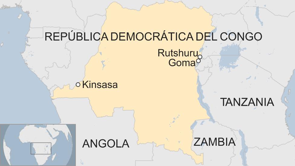 Mapa República Democrática del Congo.