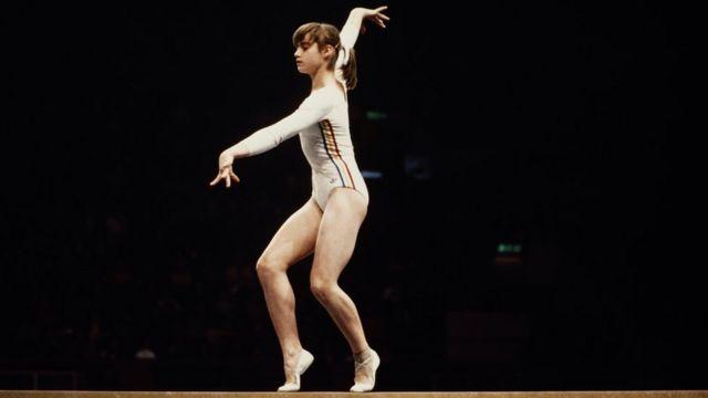 Nadia Comaneci en Montreal 1976