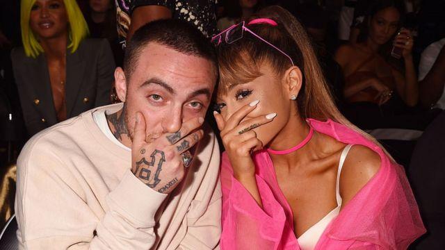 Mac Miller y Ariana Grande.