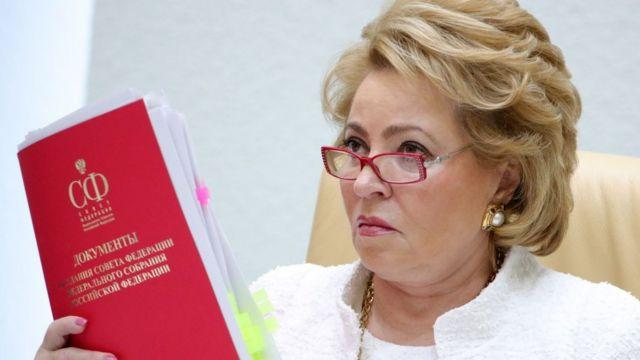 Valentina Matvienko, presidenta de la Duma