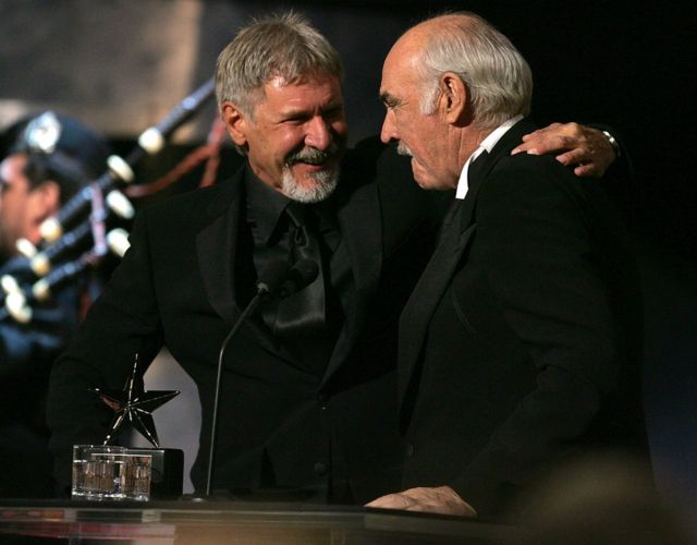 Harrison Ford and Sean Connery AFI