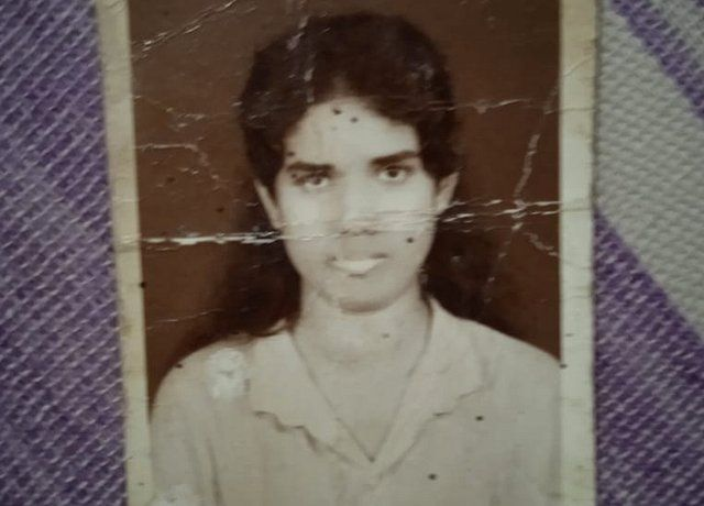 Yasawathi when she was a school girl