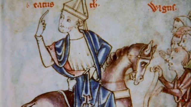 Бегство Бекета из Англии. Иллюстрация из средневекового манускрипта