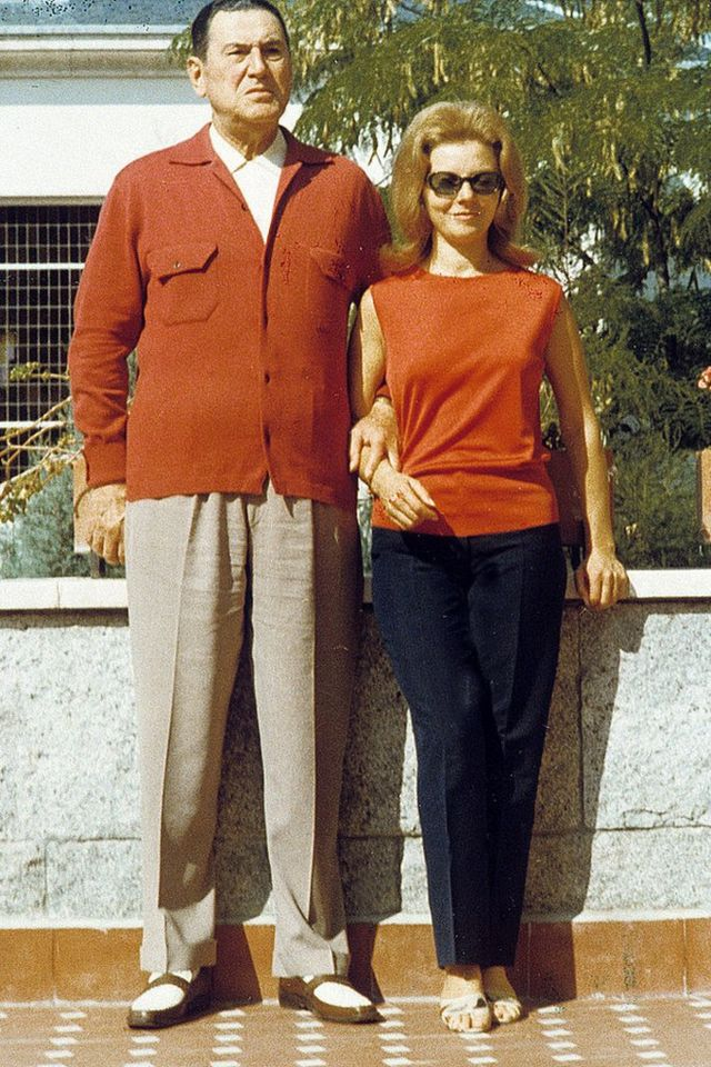 Juan Domingo Perón con Isabel en la década de 1960 en España.