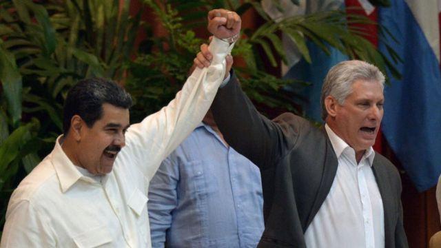 Nicolás Maduro y Miguel Díaz-Canel.