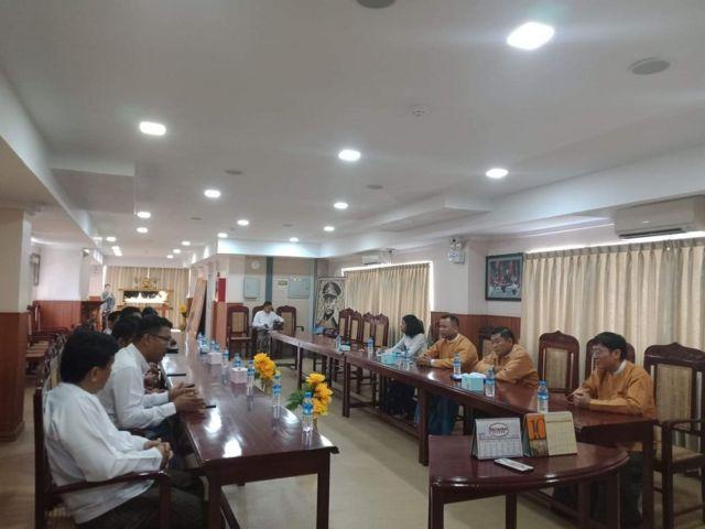 ရန်ကုန်မြို့ အမျိုးသားဒီမိုကရေစီအဖွဲ့ချုပ်(ရုံးချုပ်)မှာတွေ့ဆုံခဲ့