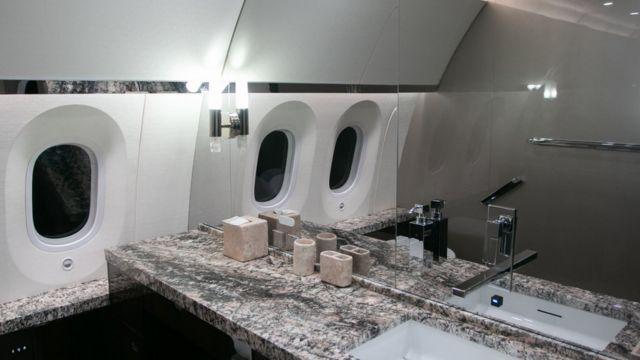 El interior del Boeing 787 del gobierno mexicano