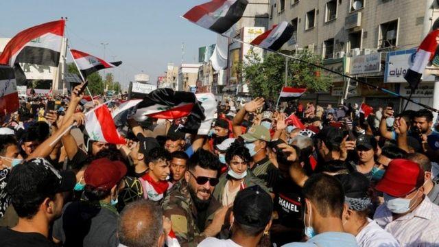 معترضان در بغداد