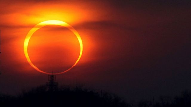 Eclipse solar anular en China.