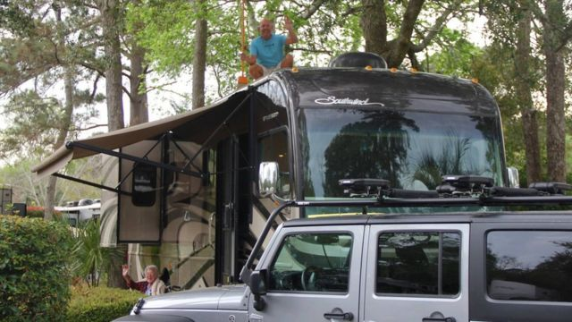 The family's motor home
