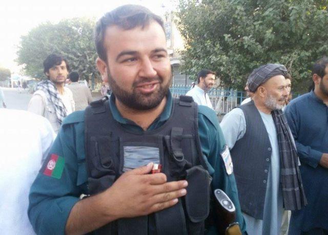 Afghan security forces member, smiling, in Kunduz