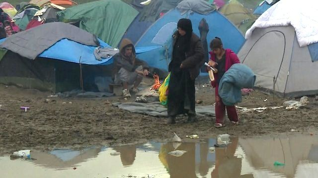 Idomeni camp on Greek-Macedonia border