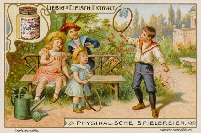 Liebig mamaları için yapılan reklam afişlerinden biri
