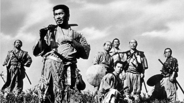 """Акира Куросаванын 1954-жылы тартылган """"Жети Самурай"""" тасмасы"""