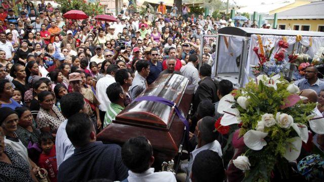 Funerales de la activista hondureña Berta Cáceres