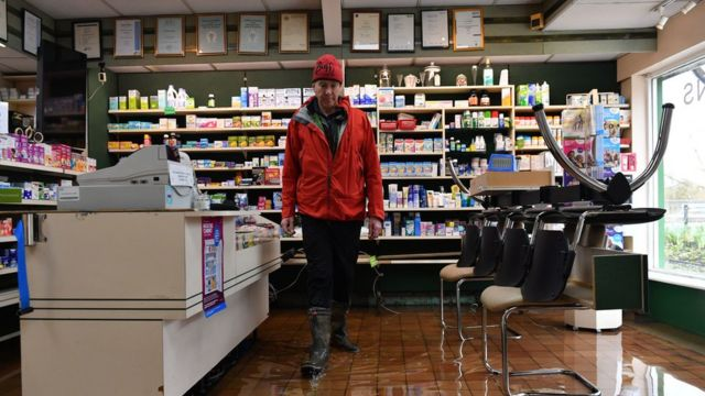 Lunts Pharmacy in Roushill, Shrewsbury, is among businesses affected