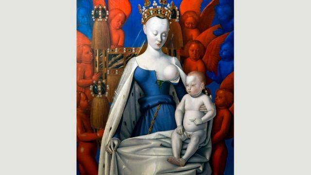 《被天使環繞著的聖母子》