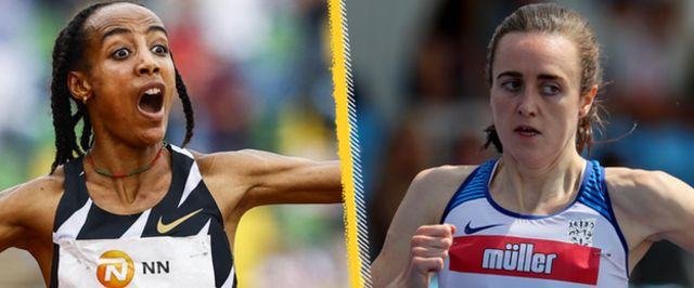 Sifan Hassan and Laura Muir