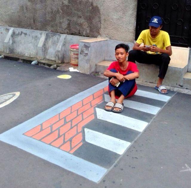 Kampung Lukisan 3d Cara Depok Agar Pengendara Tidak Ngebut Bbc News Indonesia