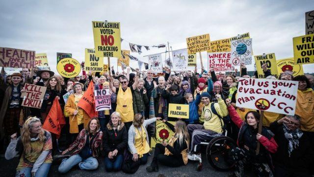 Protesta anti fracking
