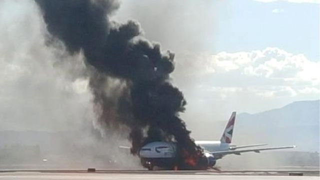 The plane on fire 09 September 2015