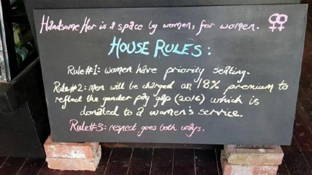 Handsome Her: Australian vegan café to close after 'man tax' furore