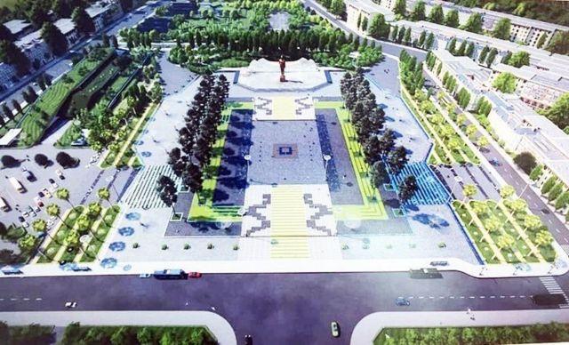 Phối cảnh quảng trường và tượng đài Hồ Chí Minh ở Phú Quốc dự định hoàn thành vào năm 2021