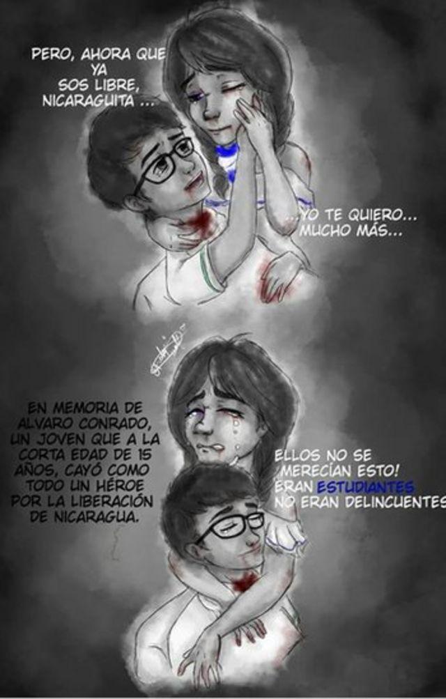 Ilustración en memoria de Conrado.