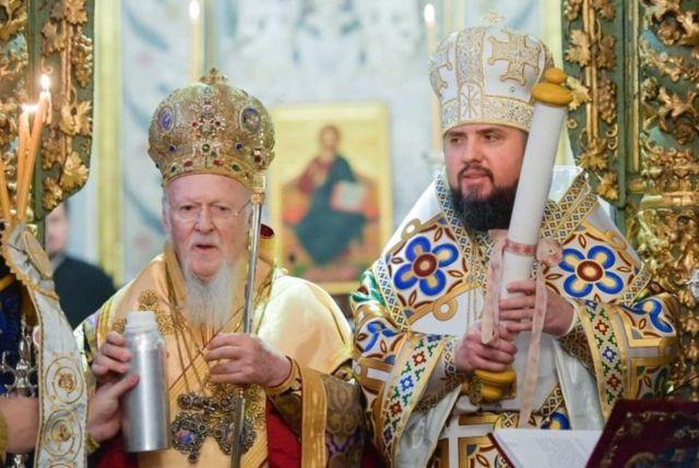 Патриарх Варфоломей и митрополит Епифаний